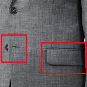 スーツのフラップ