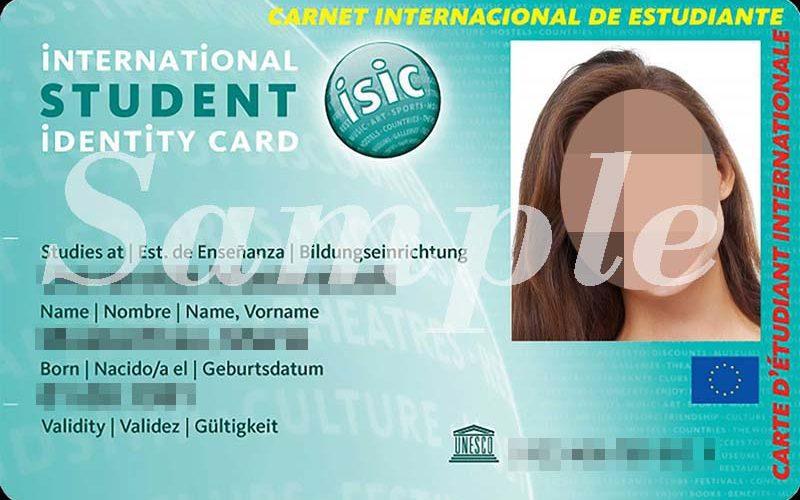 国際学生証・ISIC用証明写真撮影