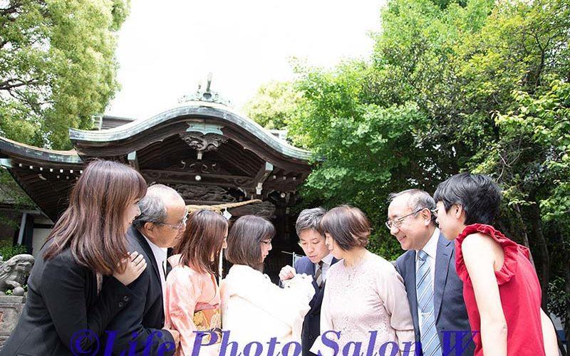 お宮参りの集合写真