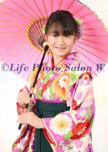 卒業袴傘2