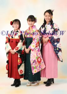 卒業袴三人1