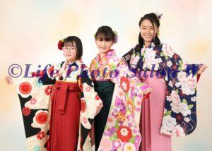 卒業袴三人2