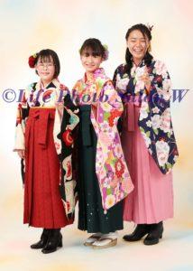 卒業袴三人3