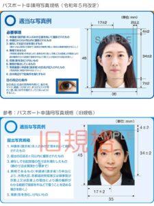 パスポート写真規格比較表